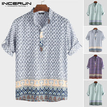 Load image into Gallery viewer, Men's Loose Fit Printed Collared Shirt - Babes & Boho
