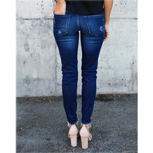 Load image into Gallery viewer, Vintage Mid Waist Ripped Skinny Jeans - Babes & Boho
