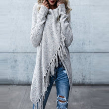 Load image into Gallery viewer, Women's Oversized Cardigan Tassel Pullover Sweater - Babes & Boho
