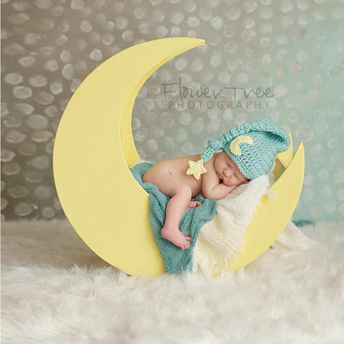 Moon and Stars Crocheted Baby Hat - Babes & Boho