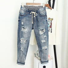 Load image into Gallery viewer, Loose Ripped Boyfriend Jeans - Bold & Boho