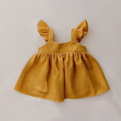 Organic Cotton Dress in Yellow - Babes & Boho