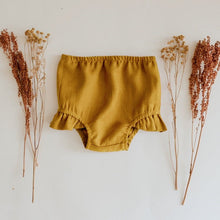 Load image into Gallery viewer, Organic Cotton Baby Shorts in Yellow - Babes & Boho