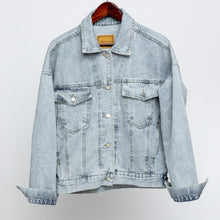 Load image into Gallery viewer, Womens Denim Jacket in Blue - Babes & Boho