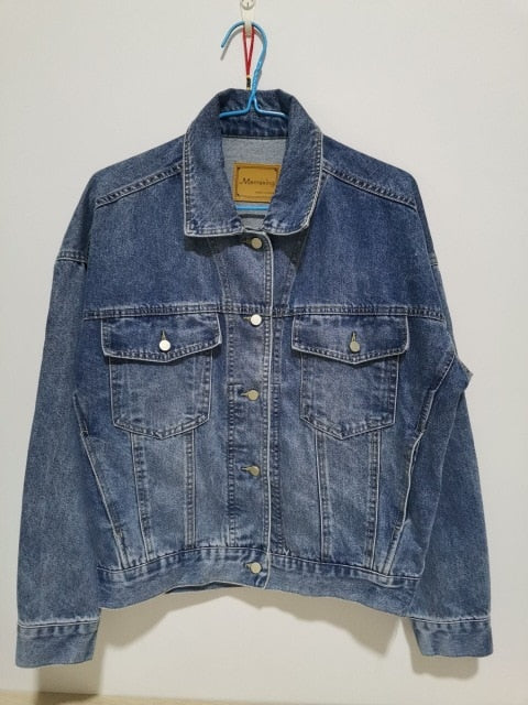 Womens Denim Jacket in Blue - Babes & Boho