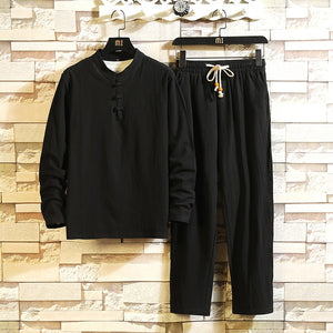 Men's Cozy Cotton Shirt Pant Set - Babes & Boho