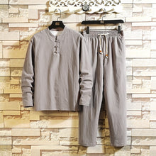 Load image into Gallery viewer, Men's Cozy Cotton Shirt Pant Set - Babes & Boho