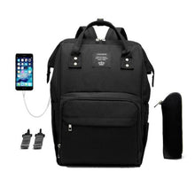 Load image into Gallery viewer, Waterproof Large Diaper Bag Backpack with USB Port - Bold & Boho