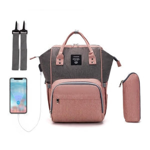 Waterproof Large Diaper Bag Backpack with USB Port - Bold & Boho