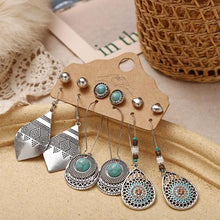 Load image into Gallery viewer, Bohemian Women's Earrings (3 or 6 Pcs) - Babes & Boho