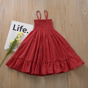 Sleeveless Flared Boho Dress for Girls - Babes & Boho