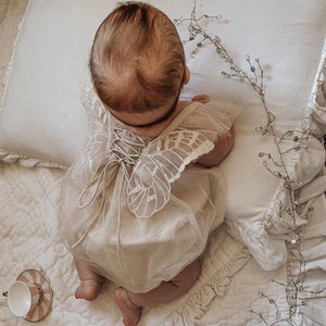 Organic Cotton Baby Girl Lace Summer Romper - Babes & Boho