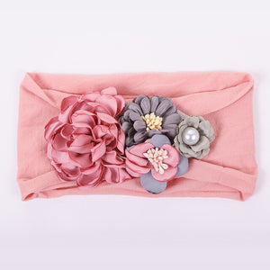 Girl's Bohemian Flower Headband Wrap - Babes & Boho