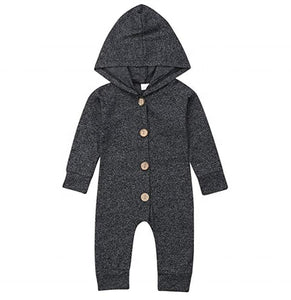 Organic Cotton Hooded Jumpsuit - Babes & Boho