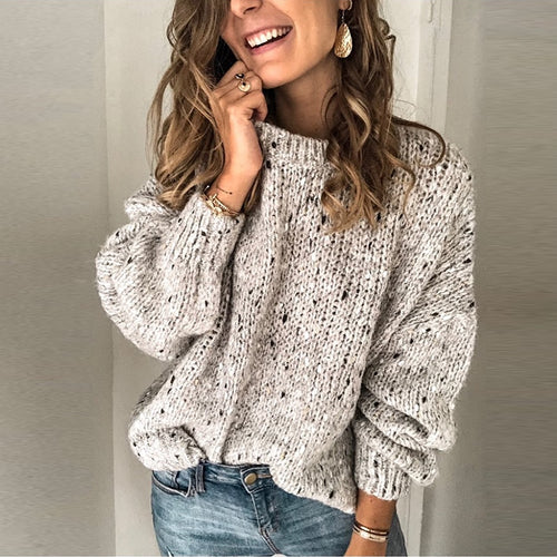 Women's Knitted Oversized Sweater - Babes & Boho