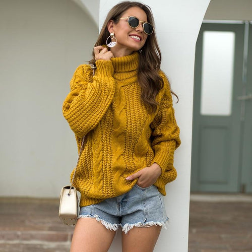 Casual Oversize Turtleneck Knit - Babes & Boho