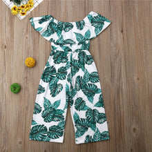 Load image into Gallery viewer, High Waist Wide Leg Printed Jumpsuit for Girls - Babes & Boho