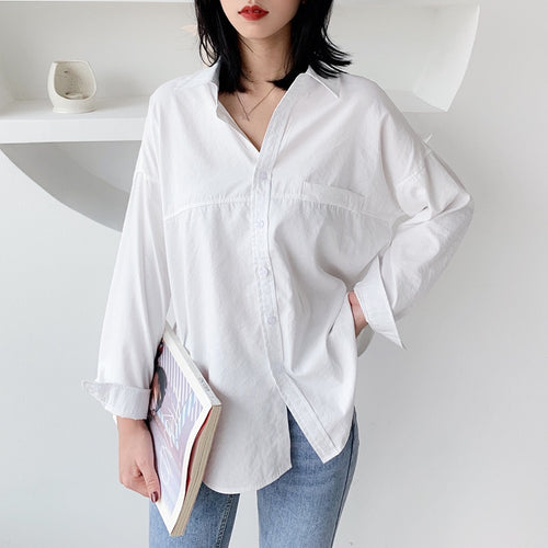 Women's Long Sleeve Boyfriend Shirt - Babes & Boho