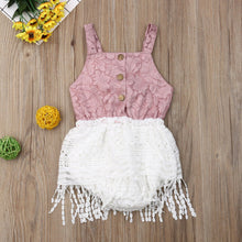Load image into Gallery viewer, Lace Tassel Romper - Babes & Boho