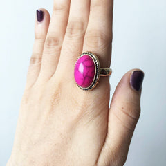 Oval Purple Ring