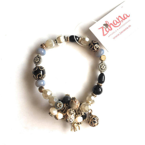 Deer Charm Beads Bunch Bracelet