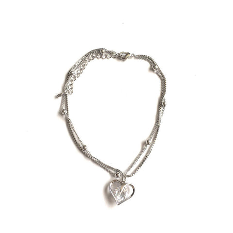 Heart Crystal Anklet