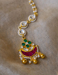 Ruby Green Small Kundan Teeka