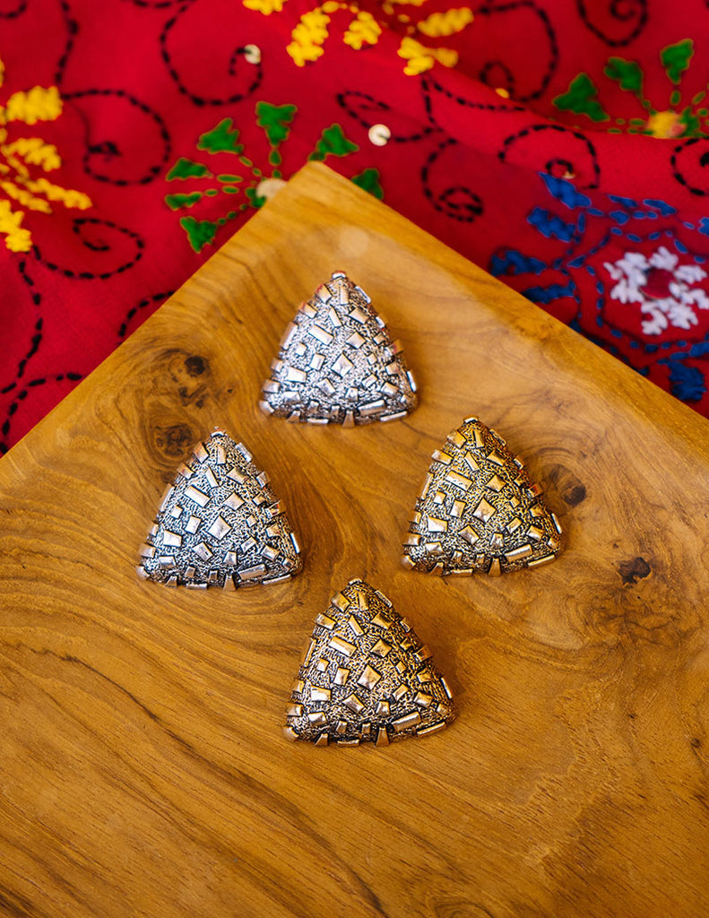 Rustic Big Triangle Studs