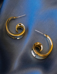 Spiral Half Hoop Earrings