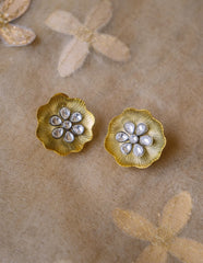 Kundan Abstract Flower Studs