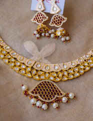 Enamel Kundan Short Necklace