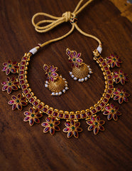 Square Flower Set with Jhumkas