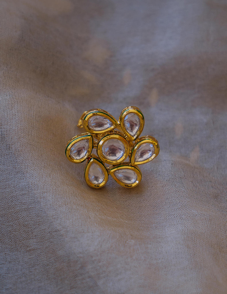Kundan Tear Drop Ring