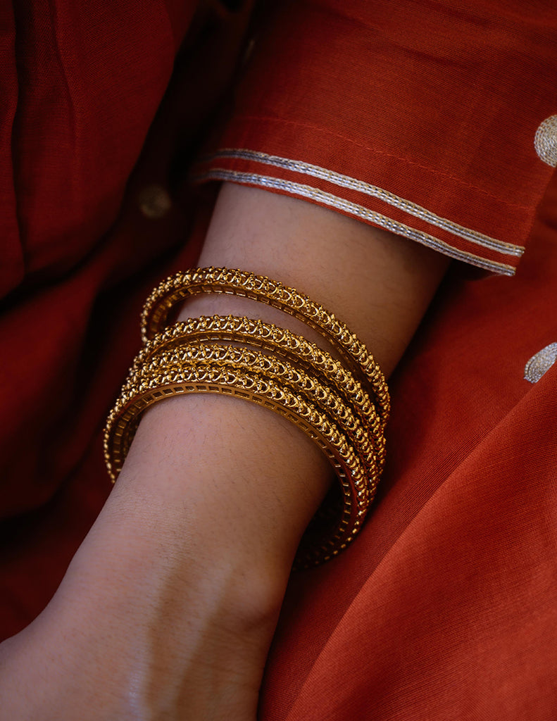 Set of 4 Gold Bangles