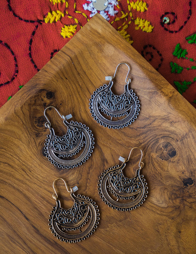 Rustic Bag Chaand Earrings