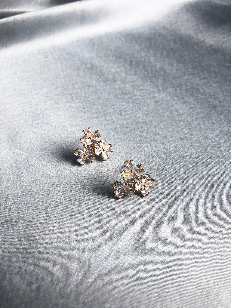 AD three Flower Studs