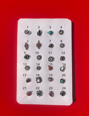 92.5 Silver Nose Pin (Single Pieces)