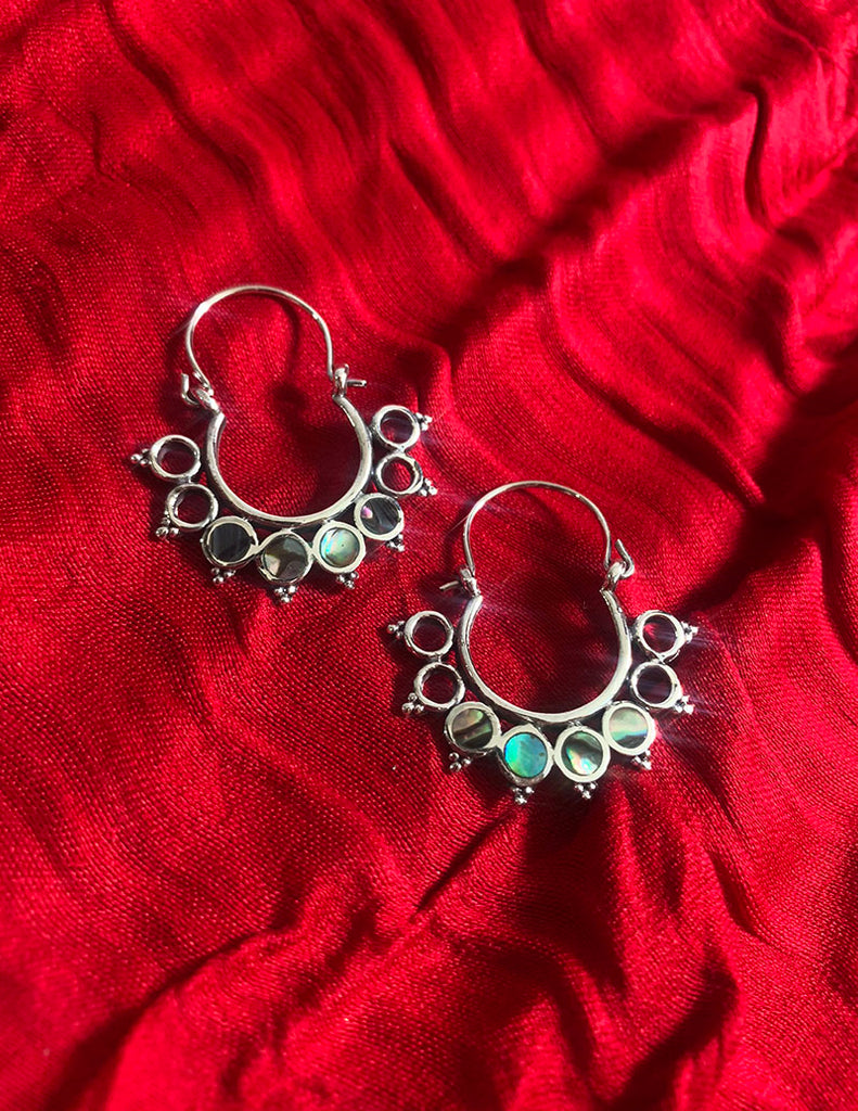 92.5 Silver Circles Chaand Earrings