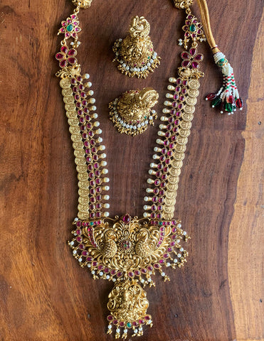 Lakshmi Temple Ruby Ovals Set