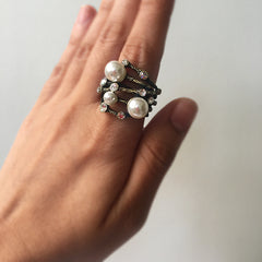 Pearl Stone Nest Ring