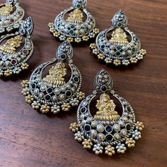 Two Tone Lakshmi Chaand Earrings