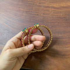 Ruby Green Set of 2 Bangles