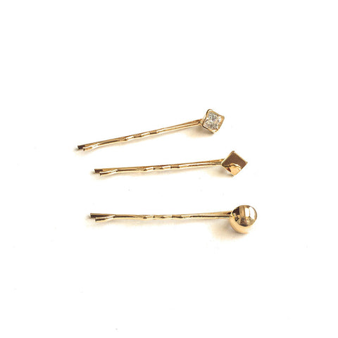 Set of 3 Square Bobby Pins