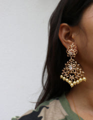 AD Leaf Cutwork Earrings