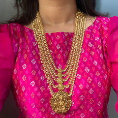 Lakshmi Coin Pearls Layer Necklace