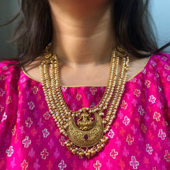 Lakshmi Moon Pearl Layer Necklace