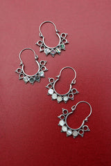 92.5 Silver Circles Bali Earrings