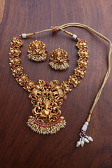 Ganesha Cluster Pearls Necklace set