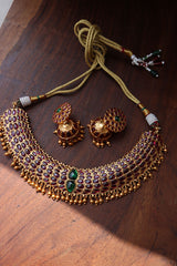 Rosegold Ruby AD Necklace