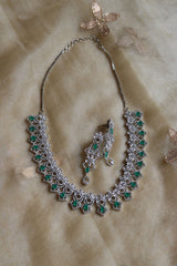 AD Green Tear Drop Necklace set